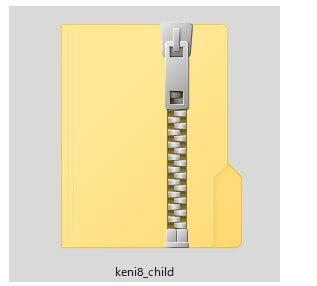 子テーマの圧縮ファイル
